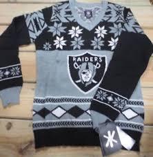raiders light up christmas sweater raiders sweater ebay