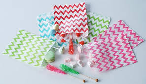 candy bags 2017 paper candy bags chevron printed paper treat bakery bags