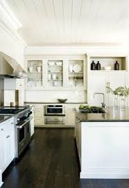 Kitchen Floor Ideas With Dark Cabinets 35 Striking White Kitchens With Dark Wood Floors Pictures Homes