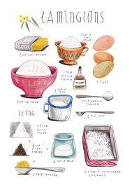 lamingtons 1 felicita sala illustration illustrated recipes