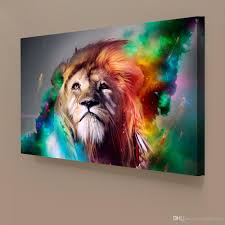 2017 1 panels abstract lion colorful painting home decor wall art 2017 1 panels abstract lion colorful painting home decor wall art picture digital art print canvas printed picture for living room from artservice