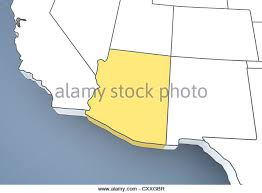 map of the united states with arizona highlighted map of arizona stock photos map of arizona stock images alamy