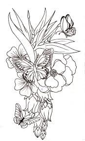 lily n daisy flower tattoo design