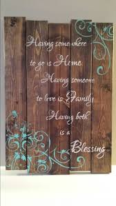 reclaimed wood wall family quote sign by tinhatdesigns