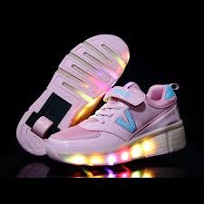 heelys light up shoes size 29 42 led shoes flash glowing heelys roller skate shoes single