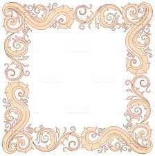 floral ornament frame in red and cream stock vector art 476481336