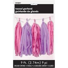 pink garland pink and purple tissue paper garland pink and purple party