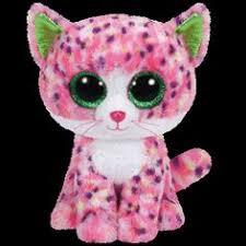 ty beanie boos leona blue leopard glitter eyes regular