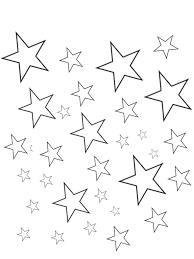 free printable star coloring pages for kids with shape and page
