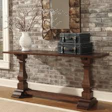 rustic demilune console table provide the rustic console table