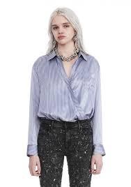 alexander wang striped long sleeve wrap front bodysuit top