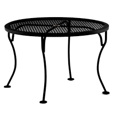 Patio Table With Umbrella Hole Ow Lee Micro Mesh 36 Inch Round Side Table With Umbrella Hole