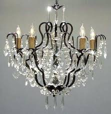 Crystal Drops For Chandeliers Iron Chandelier With Crystals U2013 Eimat Co