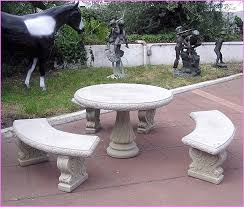 Concrete Patio Tables And Benches Fresh Ideas Concrete Patio Set Picturesque Concrete Patio