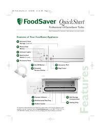 manual foodsaver foodsaver professional iii user manual 6 pages also for