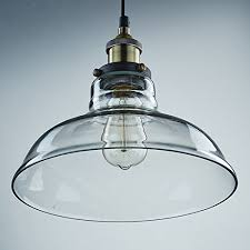 Industrial Glass Pendant Lights Les Yobo Lighting Industrial Edison 1 Light Glass Shade Ceiling