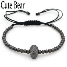 mens bracelet charms images Cute bear brand charm men bracelets fashion 4mm circular copper jpg