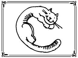 letter c cat coloring page virtren com