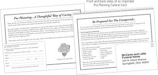 how to plan a funeral pre planning funeral card hotlineproducts