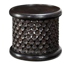 carved wood coffee table bamileke carved wood side table pottery barn