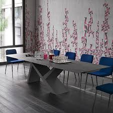 Grey Extendable Dining Table Wooded Ikarus X Dining Table Fixed Extendable Stone Effect Matt Grey