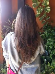 v cut layered hair layered v cut long hairstyles how to