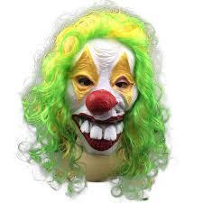 Scary Clown Halloween Costumes Men Shop Color Random 1pc Scary Clown Mask Joker Men U0027s