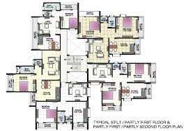small apartment building design and floor plans of shri krishna
