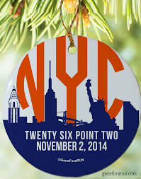 2014 nyc marathon ornament exclusively from goneforarun new