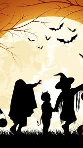 follow the light in the halloween night scary time wallpaper