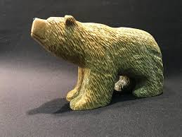 carving soapstone grizzly carved soapstone sculpture by schaefer from