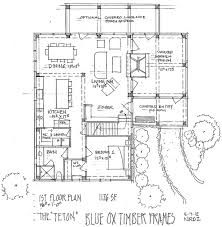 a frame floor plans the teton timber frame home floor plan blue ox timber frames