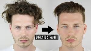 same haircut straight and curly mens curly to straight hair tutorial how to style curly hair