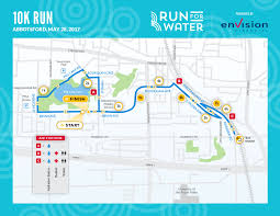 Running Map Route by 10k Run For Water