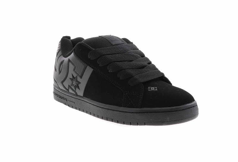 DC Court Graffik SQ ADYS100442 Black Nubuck Athletic Lace Up Skate Shoes