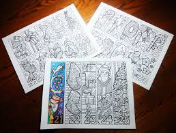 christmas advent calendar candyhippie coloring pages