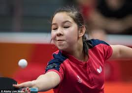 table tennis games tournament commonwealth games youngest competitor anna hursey wins table tennis