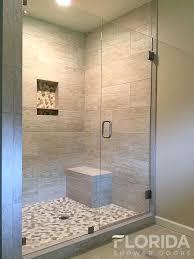 bathroom glass shower ideas 3 8 inline glass shower door and panel frameless with cls for