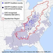 appalachian mountains on map appalachian diabetes and translation project