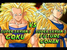 dragonball battle super saiyan 3 future gohan