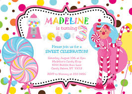 Party Invitation Card Design Cute Candyland Party Invitation Card Design Idea For With