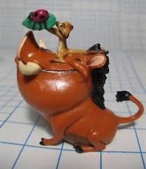 lion cake topper disney lion king timon and pumba figure w bug on a leaf applause