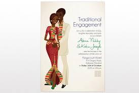 Traditional Wedding Program Ghana Traditional Wedding Invitation Card