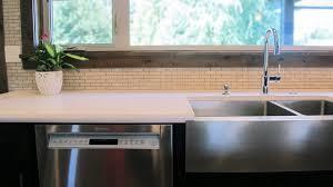 white quartz kitchen sink simplistic serenity