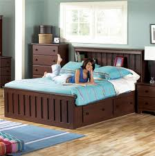 Bookcase Bed Frame Lang Shaker King Bookcase Bed With Under Bed Drawer Storage