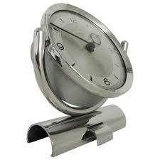 english mid century modern chrome mechanical 30 hour smiths