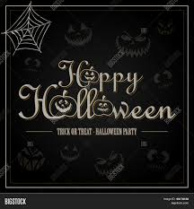 halloween black background image vintage happy halloween typographical background with pumpkins on
