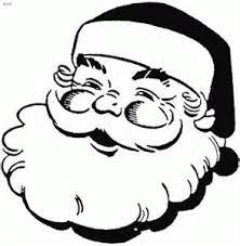 coloring smiling face santa claus clipart clip art