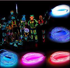 aliexpress com buy 5m 3v flexible neon light glow wire tape