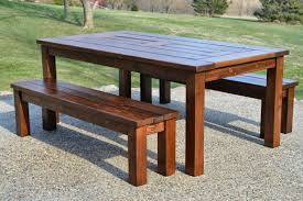 Outdoor Wooden Bench Plans To Build by Kruse U0027s Workshop Step By Step Patio Table Plans With Built In